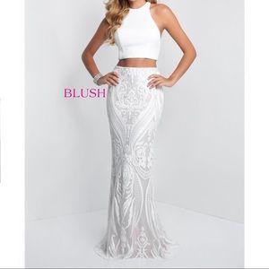 Blush Prom Dress (white)